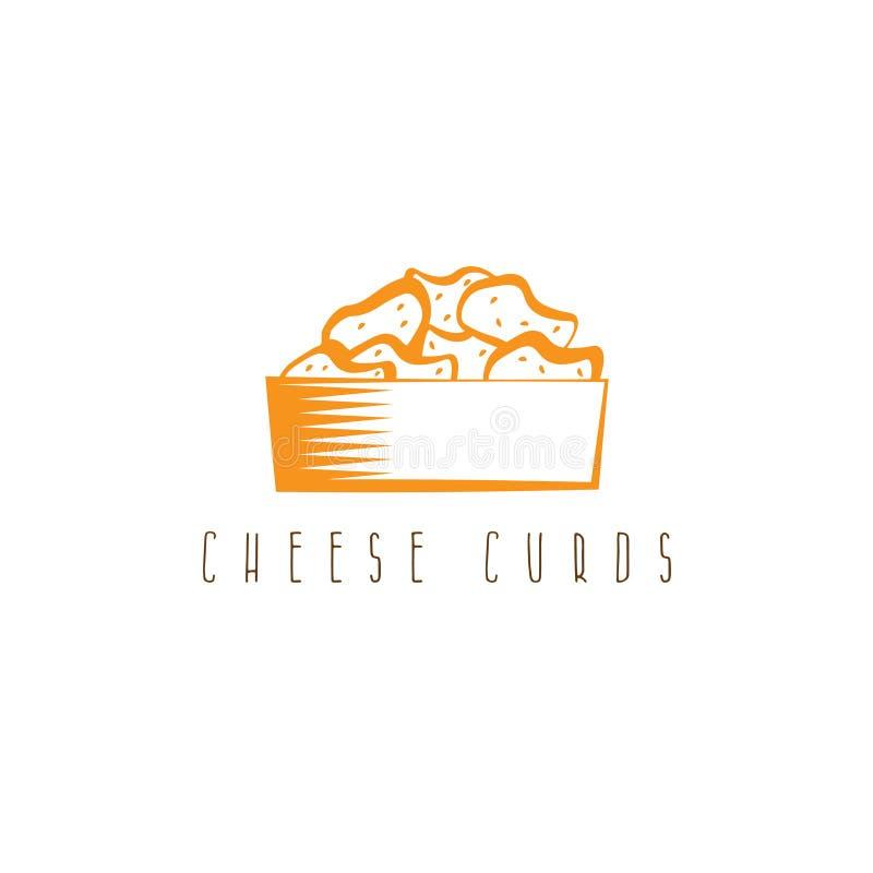 在碗传染媒介设计的乳酪凝乳 库存例证