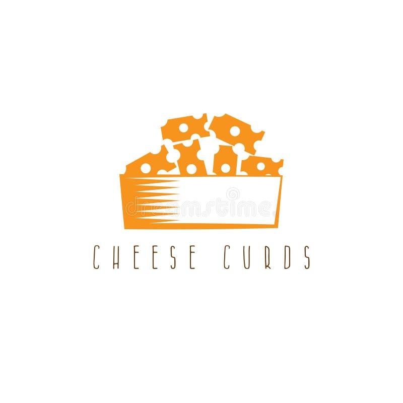 在碗传染媒介设计的乳酪凝乳 皇族释放例证