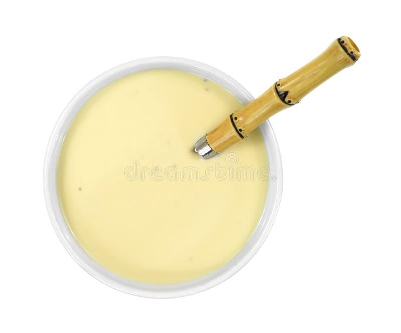 在碗的乳酪汤 免版税库存图片