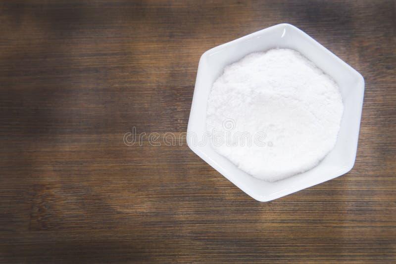 在碗的发面苏打 库存照片