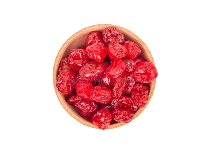 在碗的干樱桃 图库摄影