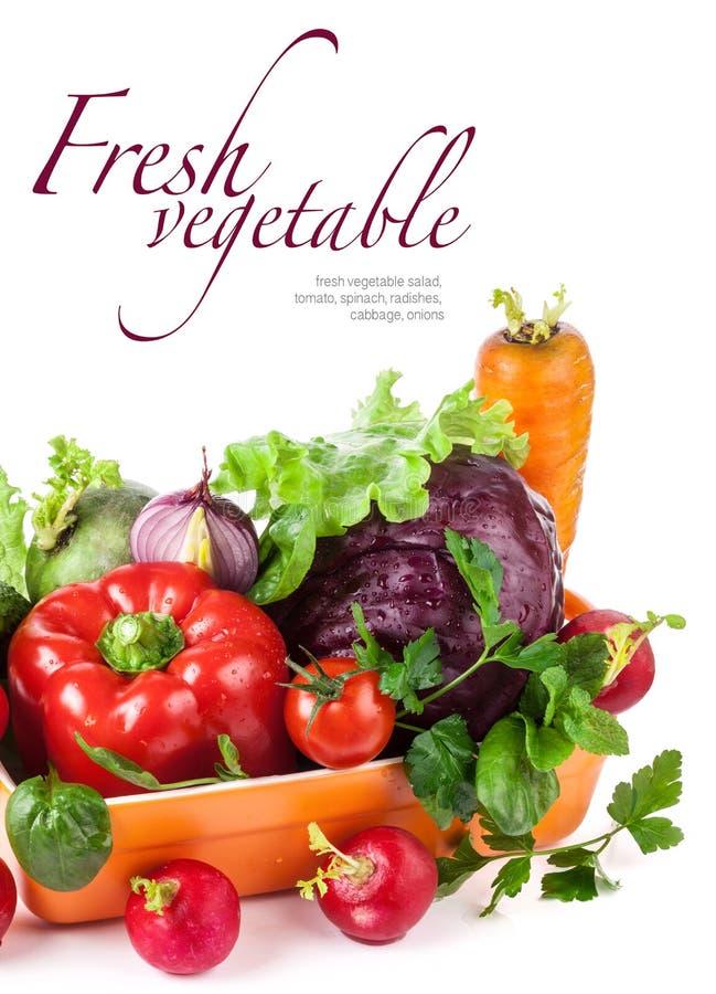 在碗的新鲜蔬菜 免版税库存照片