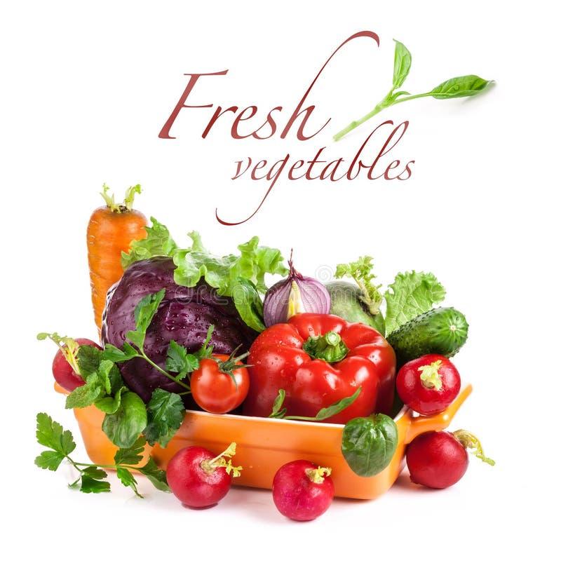 在碗的新鲜蔬菜 图库摄影