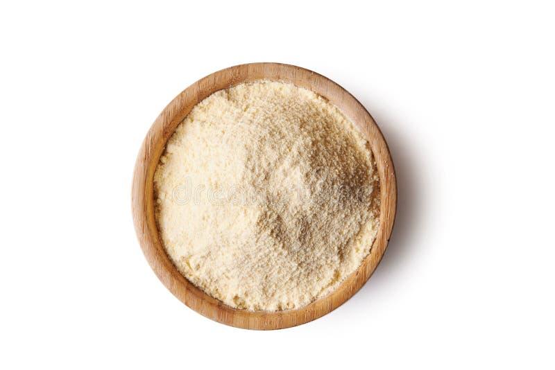 在碗的玉米粉 免版税库存照片