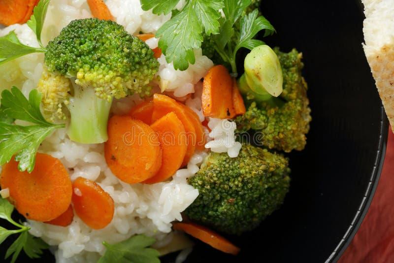 在碗的素食米 免版税库存图片