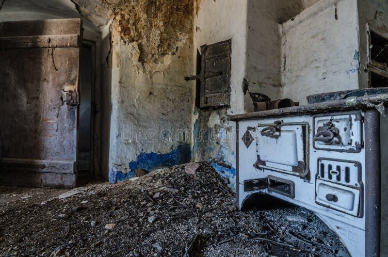 在磨房的老火炉 图库摄影