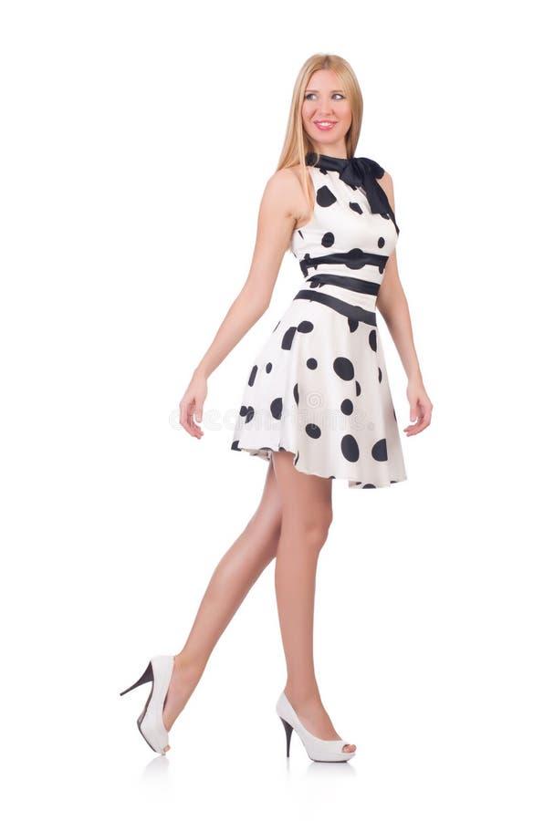 在礼服穿戴的高模型 图库摄影