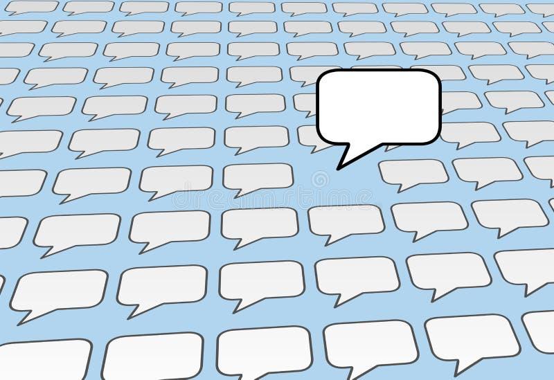 在社会演讲的蓝色泡影媒体联系语音 皇族释放例证