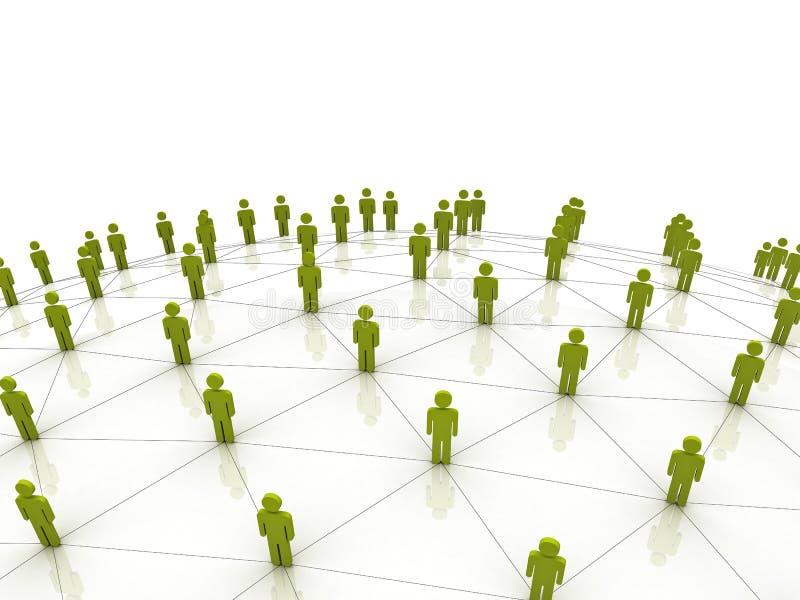 在社会白色的概念网络 皇族释放例证