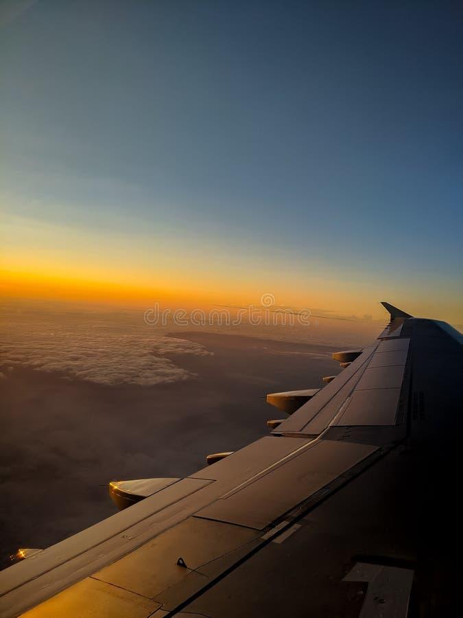 在神帆布的飞行 免版税图库摄影