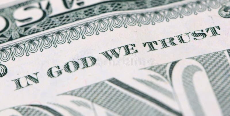 在神我们信任 免版税库存图片
