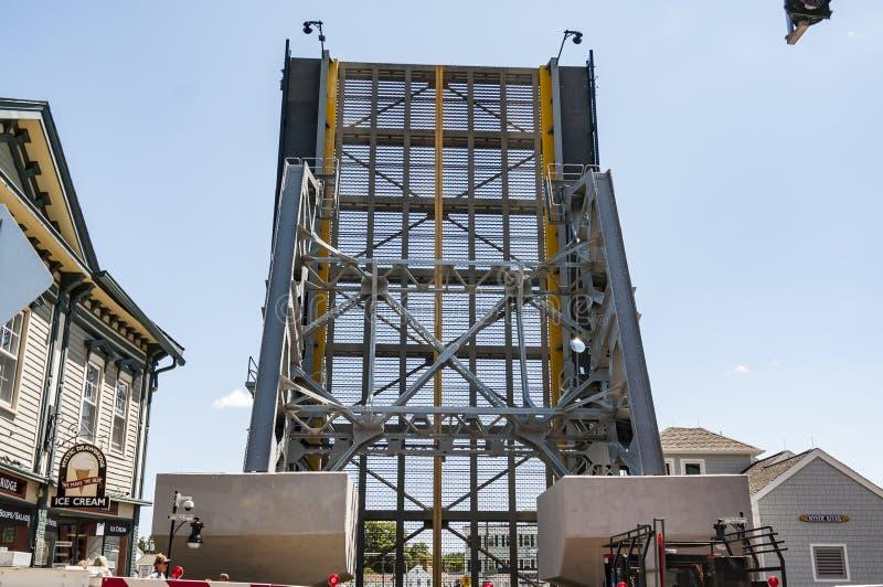 在神秘主义者,康涅狄格的偶象吊桥 ,美国 免版税库存图片