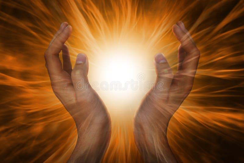 在祷告的手 免版税库存图片