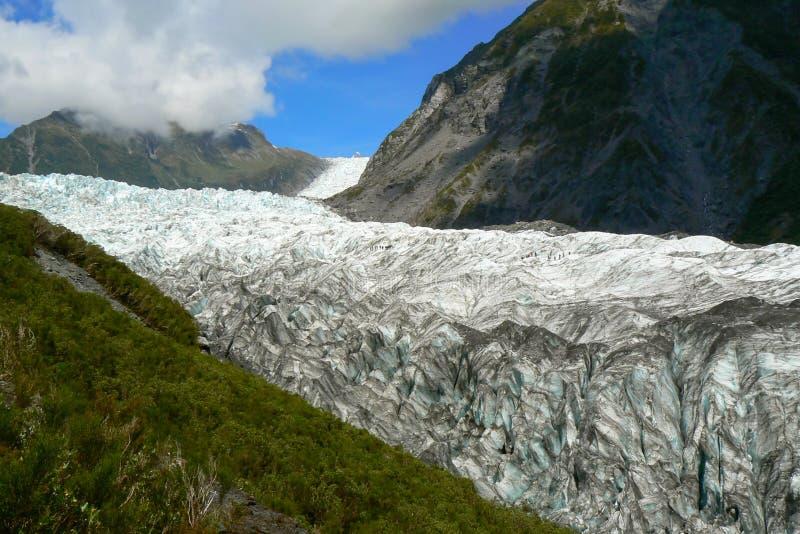 在福克斯冰川,南岛,新西兰的全景 库存照片
