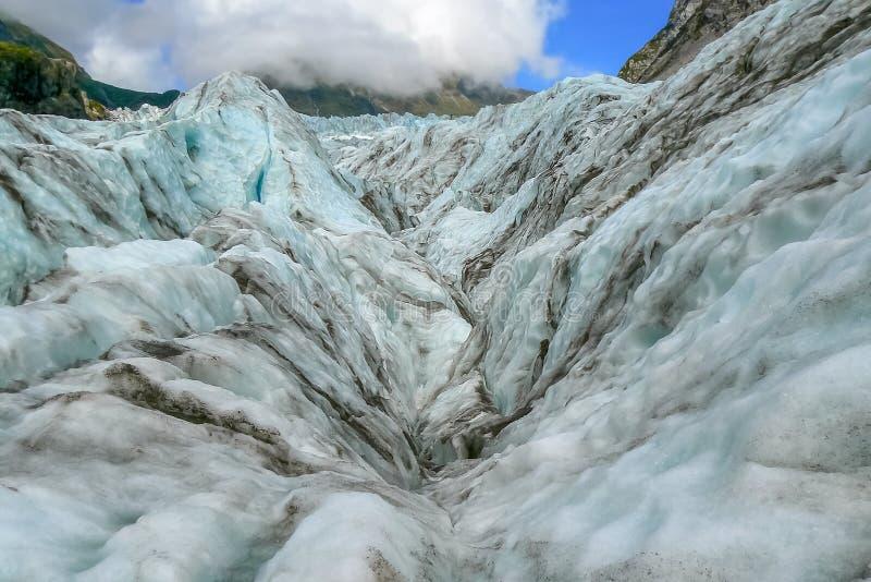 在福克斯冰川,南岛,新西兰的美好的雪风景 图库摄影