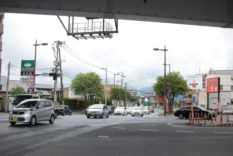 在福冈县的街道视图 库存照片