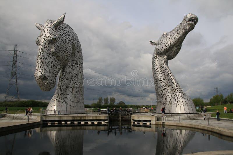在福尔柯克,苏格兰附近的凯尔派 库存照片