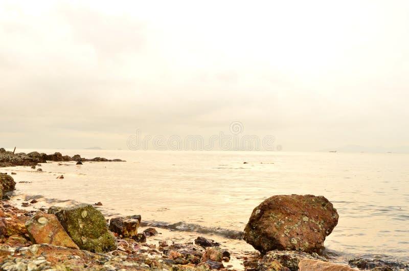 在离开的海的黎明 库存图片