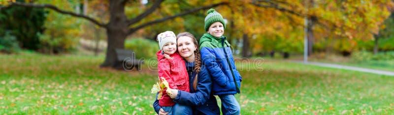 在秋天公园的系列 库存照片