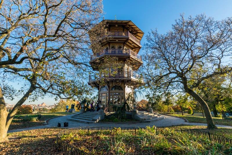 在秋天期间的特森公园在巴尔的摩,马里兰 免版税库存图片