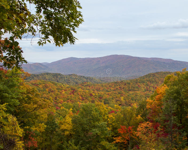 在秋天的山 库存图片