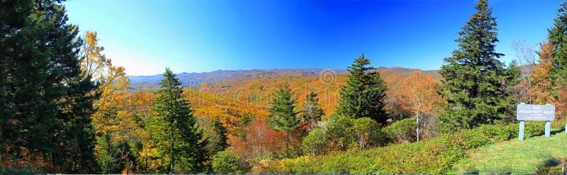 在秋天的Smokey山 库存图片