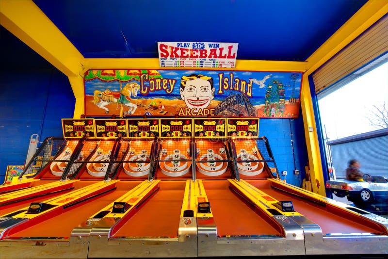 在科尼岛的Skeeball 免版税图库摄影