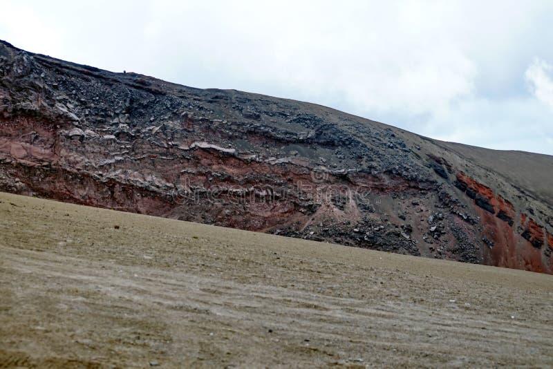 在科托帕克西火山的贫瘠风景 免版税图库摄影