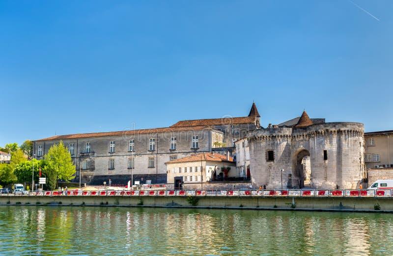 在科涅克白兰地,法国的圣雅克门 库存图片