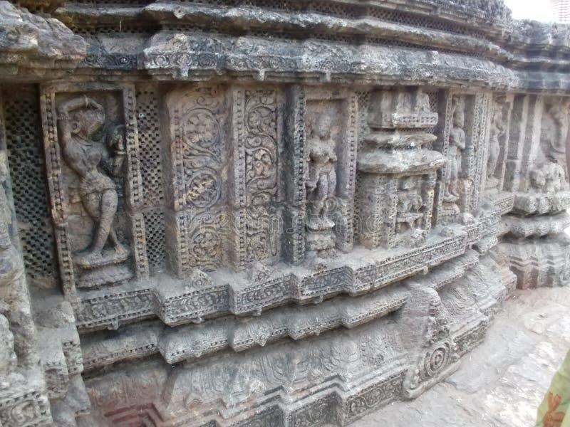 在科纳克太阳神庙,Odisha的建筑学 免版税库存照片
