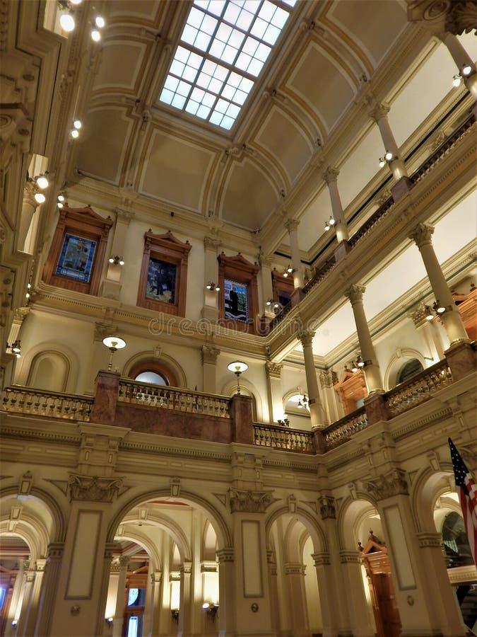 在科罗拉多国会大厦里面 免版税库存照片