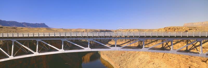 在科罗拉多河间的那瓦伙族人桥梁 库存图片