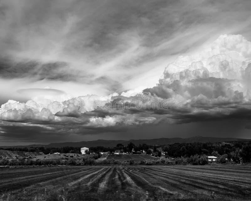 在科罗拉多西部斜坡的风暴  免版税库存照片