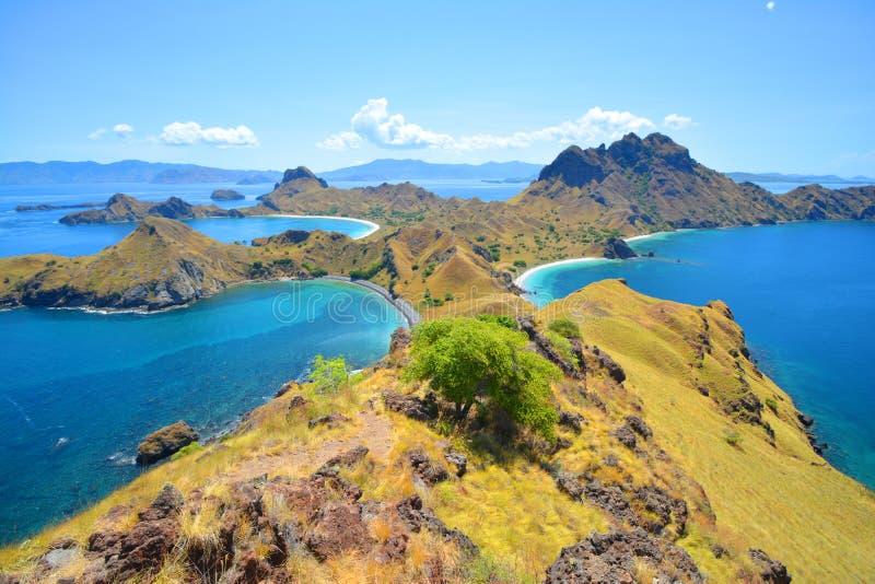 在科莫多岛海岛,印度尼西亚附近的Padar海岛 库存照片