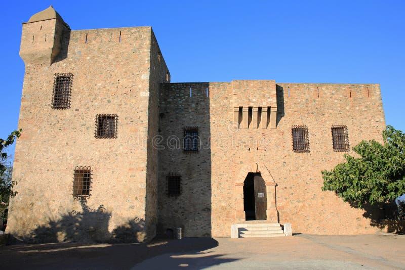 在科西嘉岛,法国的Aleria城堡 库存图片