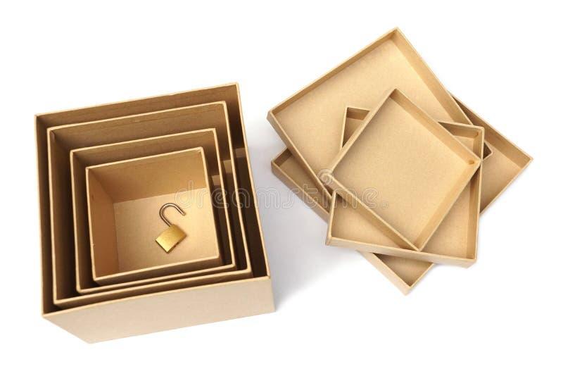 在秘密箱子的挂锁 库存图片
