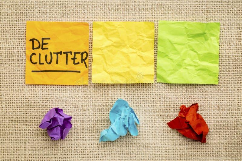 在稠粘的笔记的Declutter概念 库存照片