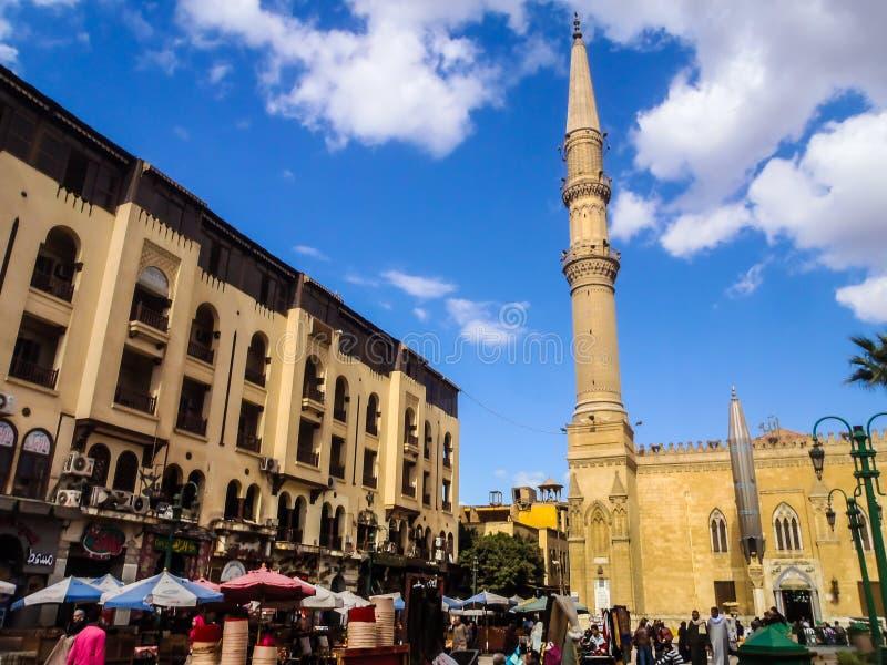 在穆罕默德・阿里后清真寺的市场在开罗,埃及 库存图片
