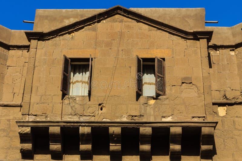 在穆罕默德阿里清真寺的窗口,开罗, Egyp萨拉丁城堡  免版税库存照片