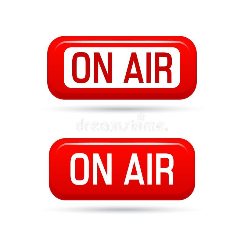 在空气传染媒介标志 活小河标志 Illustrration在空气标志、广播媒体声音、收音机和电视纪录 皇族释放例证
