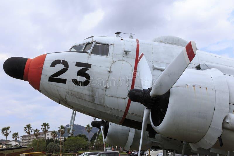 在空气博物馆飞行在鹿屋市,九州日本 图库摄影