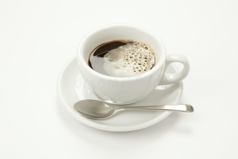 在空白杯子的无奶咖啡 库存照片