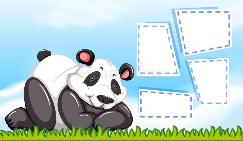 在空白的模板的熊猫 皇族释放例证