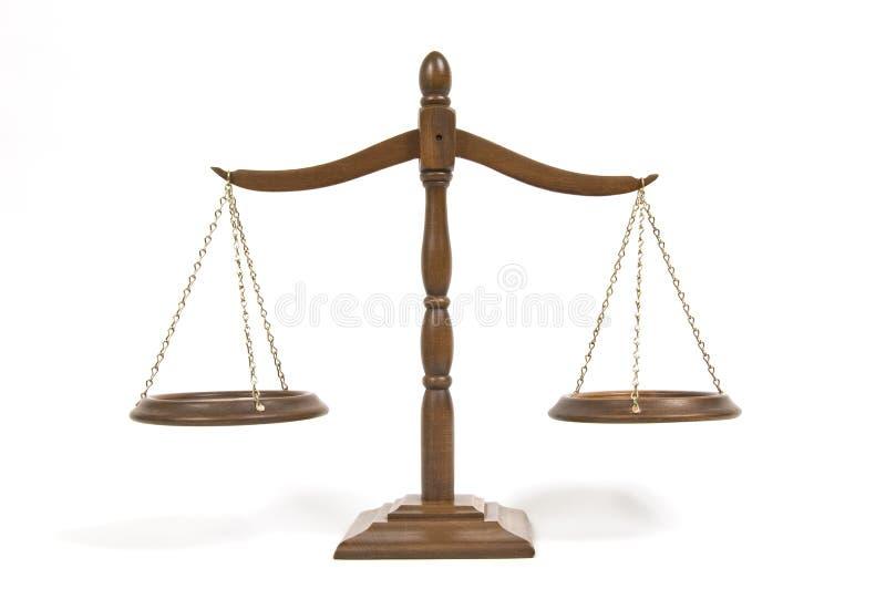 在空白的缩放比例的查出的正义 免版税库存图片