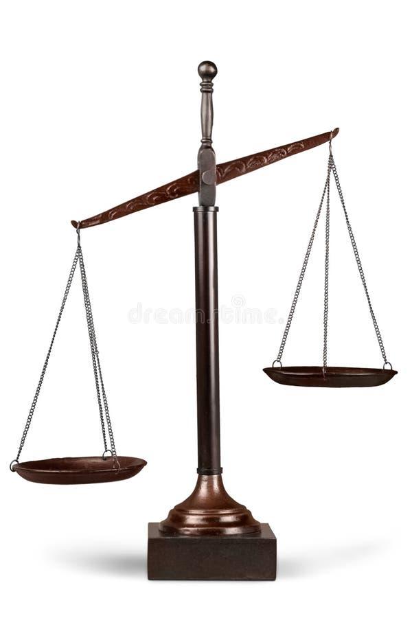 在空白的缩放比例的查出的正义 库存图片