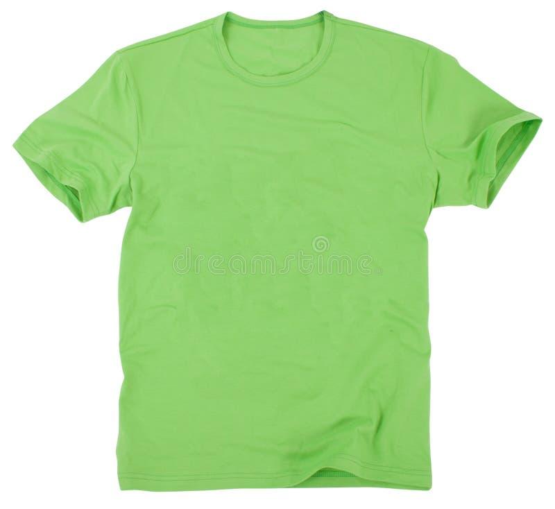 在空白背景查出的人的T恤杉 图库摄影