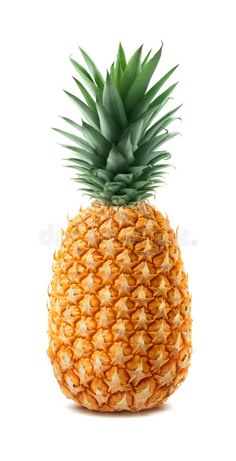 在空白背景查出的全部的菠萝 免版税库存照片