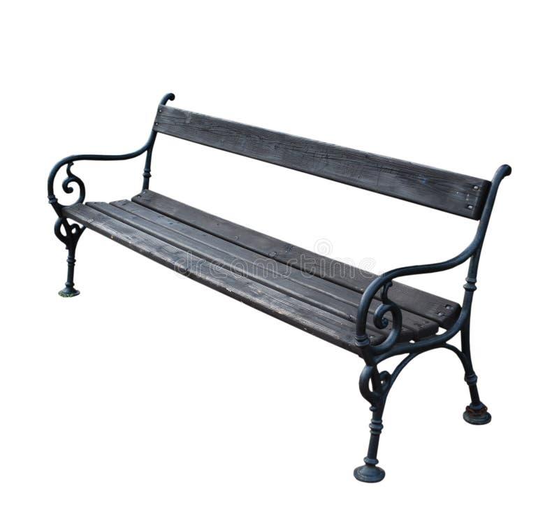 在空白背景查出的公园长椅 免版税库存图片