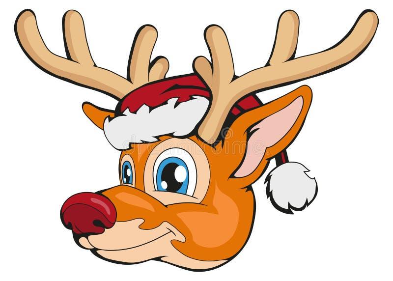 在空白背景查出的圣诞节鹿 新年` s假日 所有所有圣诞节鹿要素例证各自的对象称范围纹理导航 冬天字符头 另外新年 皇族释放例证