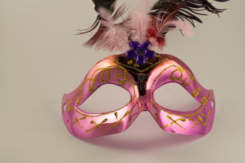 在空白背景查出的威尼斯式狂欢节屏蔽 新年` s面具 库存图片